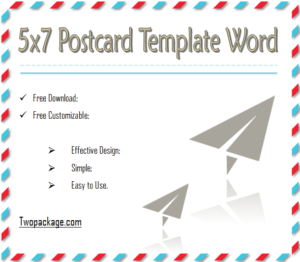 5X7 Template In Word from twopackage.com