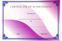 Certificate of Achievement Template Army FREE
