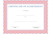 Certificate of Achievement Template Editable Free 1