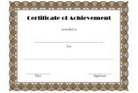 Certificate of Achievement Template Editable Free 2
