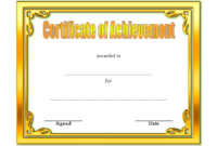 Certificate of Achievement Template Editable Free 3