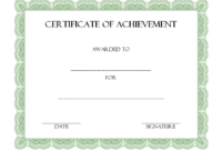 Certificate of Achievement Template Editable Free 4