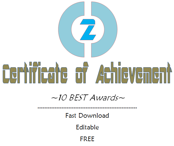Certificate of Achievement Template Word Free [10+ Awards]
