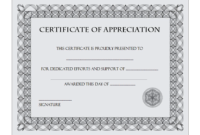 Certificate of Appreciation Retirement Template FREE 1