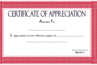 Certificate of Appreciation Retirement Template FREE 3