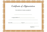 Certificate of Appreciation Template Word FREE 1