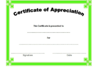 Certificate of Appreciation Template Word FREE 3