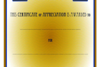 Certificate of Appreciation Template Word FREE 4