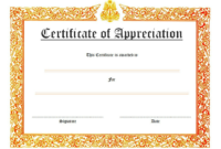 Certificate of Appreciation Template Word FREE 5