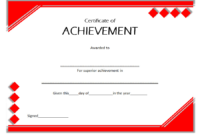 Certificate of Outstanding Achievement Template FREE 1