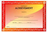 Certificate of Outstanding Achievement Template FREE 2