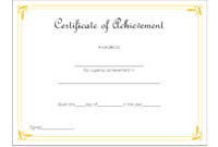 Certificate of Outstanding Achievement Template FREE 3