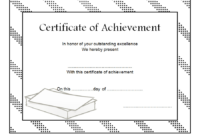 Certificate of Outstanding Achievement Template FREE 4