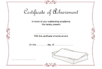 Certificate of Outstanding Achievement Template FREE 5