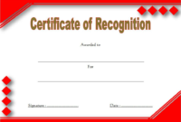 Certificate of Recognition Blank Template FREE