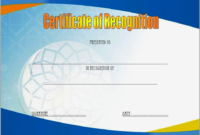 Certificate of Recognition Template Word FREE 3