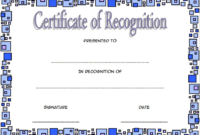 Certificate of Recognition Template Word FREE 5