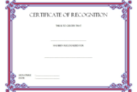 Certificate of Recognition Template Word FREE 7