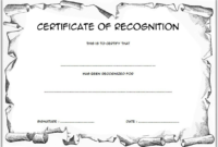 Certificate of Recognition Template for Elementary FREE