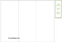Gate Fold Brochure Template FREE 8.5 x 11 inch