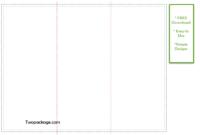 Z Fold Brochure Template FREE 8.5 x 11 inch