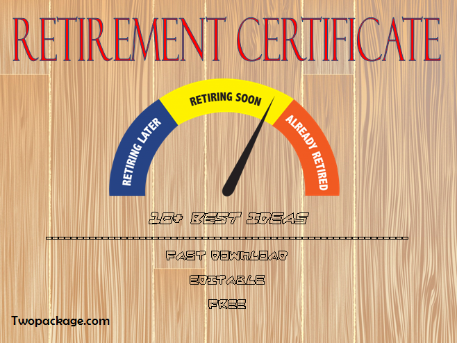 free retirement certificate templates for word, retirement certificate of appreciation template, employee retirement certificate template, free printable retirement certificate template, retirement award certificate template, navy retirement certificate template