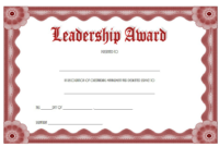 Certificate Leadership and Management Free Printable 3