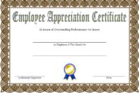 Employee Appreciation Certificate Template Free 1