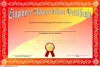 Employee Appreciation Certificate Template Free 3