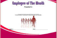 Employee of The Month Certificate Template Word FREE 1
