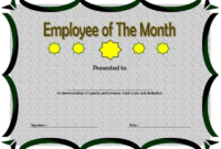 Employee of The Month Certificate Template Word FREE 2