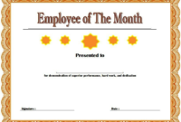 Employee of The Month Certificate Template Word FREE 3