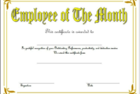 Employee of The Month Certificate Template Word FREE 5