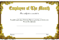 Employee of The Month Certificate Template Word FREE 6