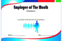 Employee of The Month Certificate Template Word FREE 7