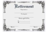 FREE Employee Retirement Certificate Template 1