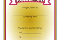 FREE Employee Retirement Certificate Template 2