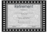 FREE Employee Retirement Certificate Template 3