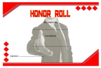 Free Editable Honor Roll Certificate Template 2