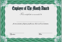 Free Employee of The Month Award Certificate Template 2