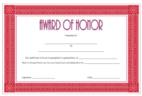 Free Honor Award Certificate Template 1