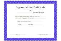 Free Retirement Certificate of Appreciation Template 1