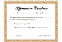 Free Retirement Certificate of Appreciation Template 2