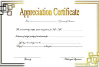 Free Retirement Certificate of Appreciation Template 3