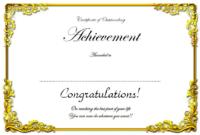 Free Retirement Certificate of Appreciation Template 6