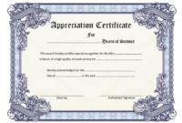Free Retirement Certificate of Appreciation Template 7