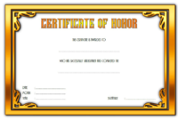 Honor Certificate Template Word FREE 2