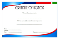 Honor Certificate Template Word FREE 4