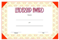 Leadership Award Certificate Template FREE 1