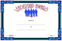 Leadership Award Certificate Template FREE 2